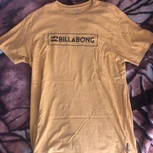 Billabong gold t shirt short sleeve